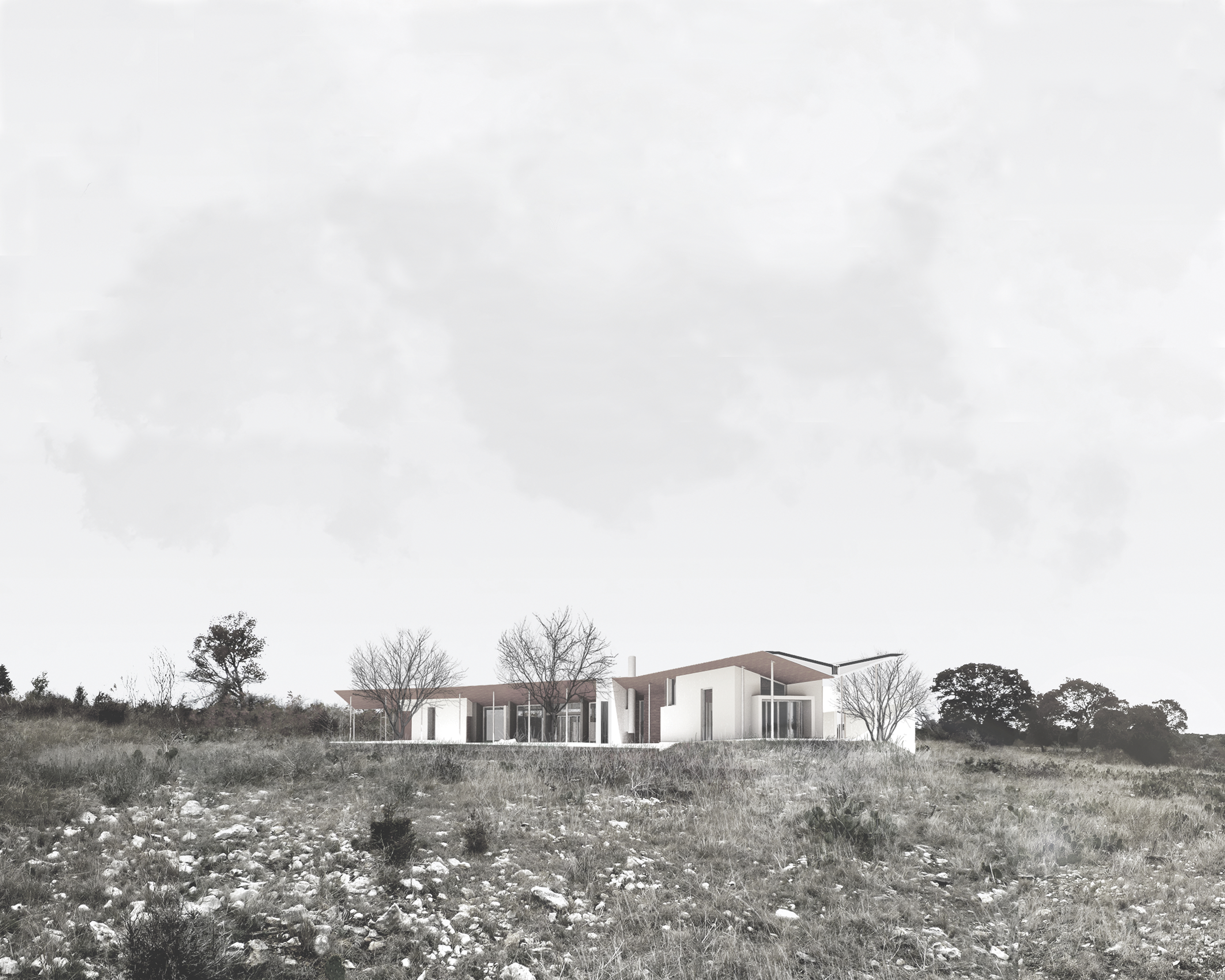 Sun/Wind House, Oatmeal, TX (unbuilt), 2013